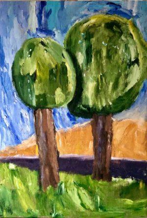 Två träd i Munka