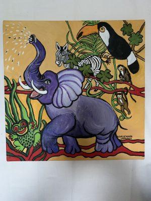 Glada djungeldjur.