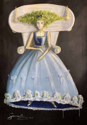 Blå flicka
