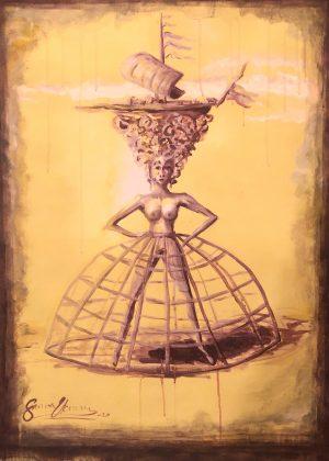 Kvinna i krinolin