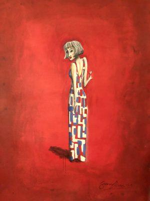 Röd kvinna