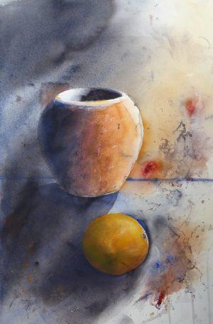 Kruka och apelsin