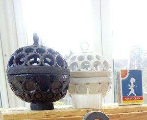 Klotlyktor små, keramik
