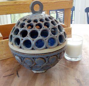 Klotlyktor stor, keramik