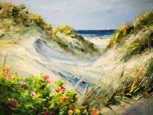 Sanddyner med nyponrosor