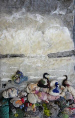 Fåglar på stenen