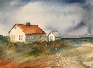 Ensamt hus