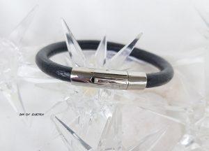 Läderarmband med klicklås